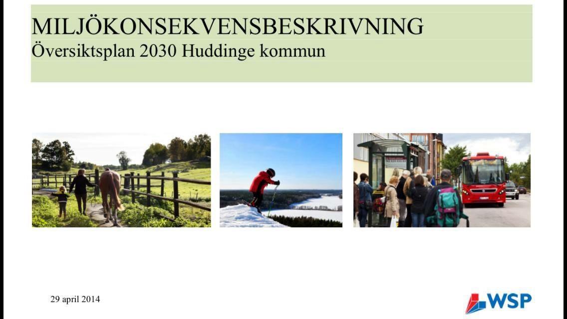 Miljökonsekvensbeskrivning för Huddinge kommuns översiktsplan